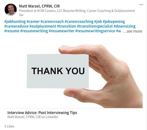 Matt Warzel, CPRW, CIR